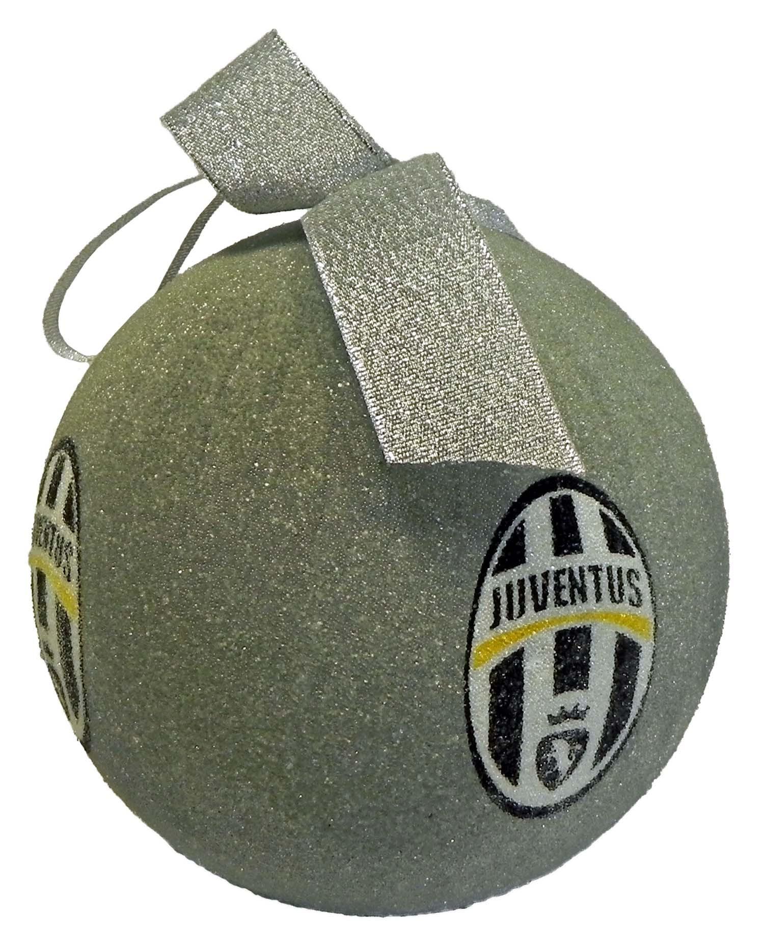 Addobbi Natalizi Juventus.Palla Di Natale Juventus Argento