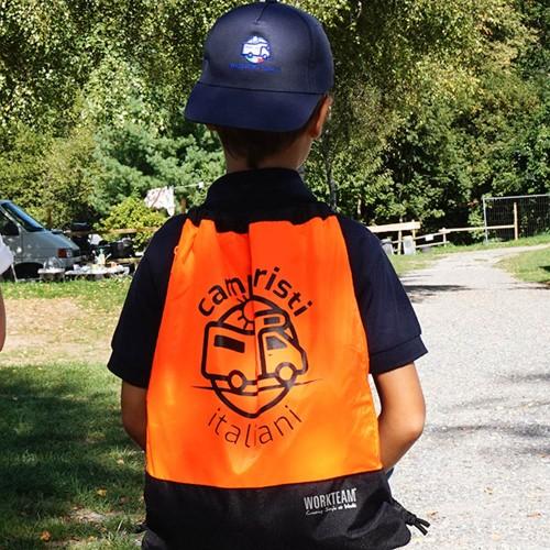 Gymsack Arancione Camperisti Italiani