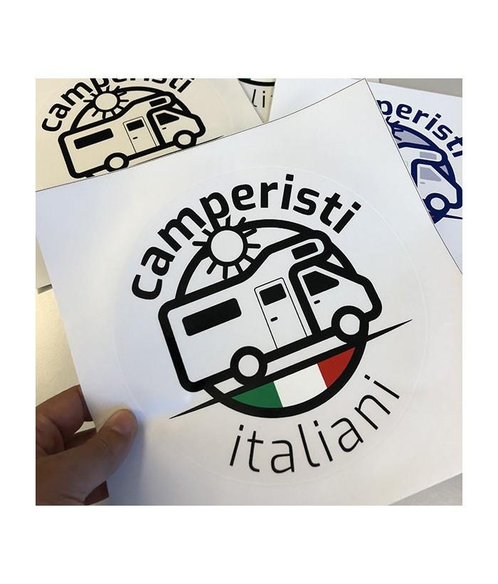 Adesivo Trasparente Camperisti Italiani
