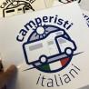 Adesivo Bianco Camperisti Italiani