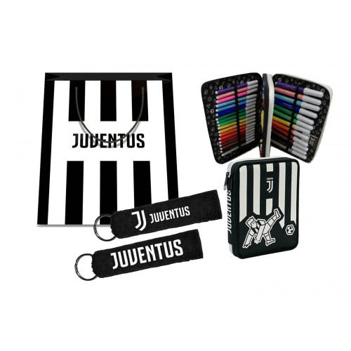 Set Regalo Portapenne + Portachiavi Juventus