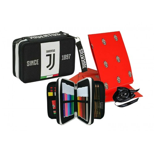 Portapenne Triplo Juventus + Carta Omaggio