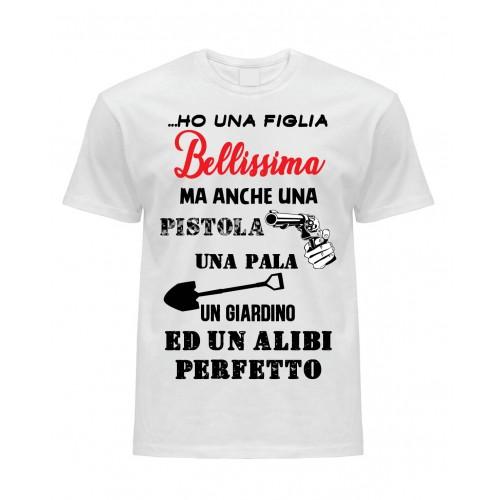 T-Shirt Bianca Figlia Bellissima