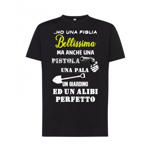 T-Shirt Nera Figlia Bellissima