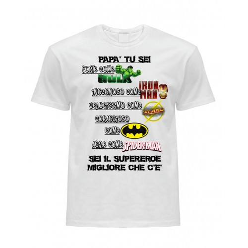 T-Shirt Bianca Supereroi