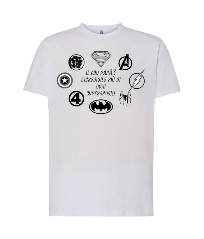 T-Shirt Bianca Papà Incredibile