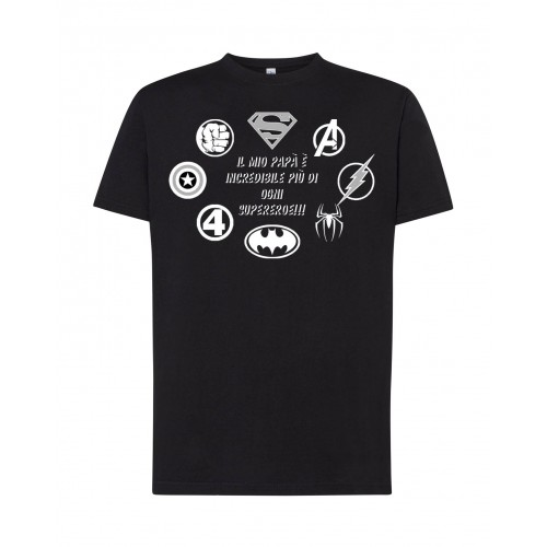 T-Shirt Nera Papà Incredibile