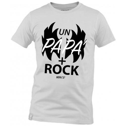 T-Shirt Bianca Papà Rock