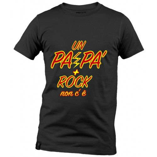 T-Shirt Nera Papà Rock