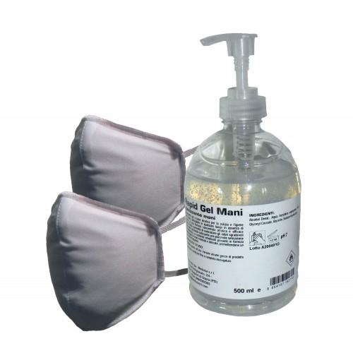 Mascherina Lavabile con Gel Igienizzante