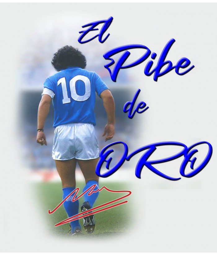 T-Shirt Bianca Tributo Diego Armando Maradona