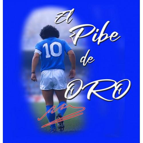 T-Shirt Blu Bambino Tributo Maradona