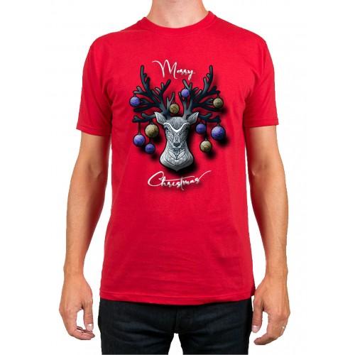 T-Shirt Uomo Christmas Renna