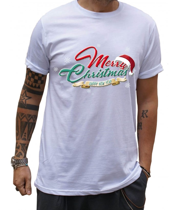 T-Shirt Uomo Merry Christmas